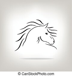 Vector image of a horse on light background