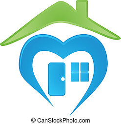 vector image of a house logo - Digitally generated of a...