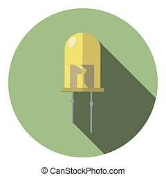 Vector image of a light yellow LED