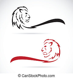 Vector image of a lion