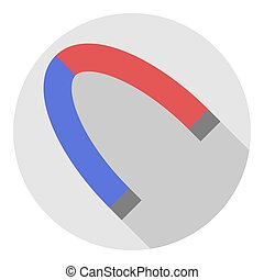 Vector image of a magnet