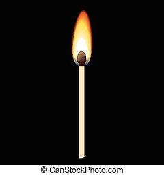 Match in the dark