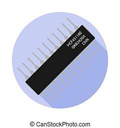 Vector image of a microcontroller