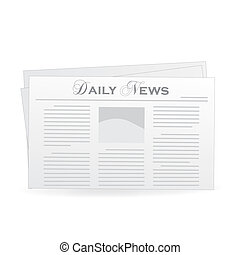 Vector image of a newspaper