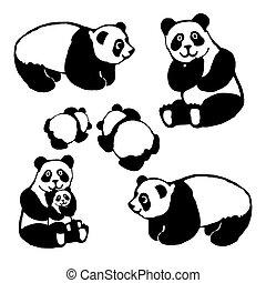 Vector image of a panda bear