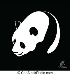 Vector image of a panda