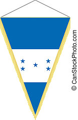 Vector image of a pennant with the national flag of Honduras