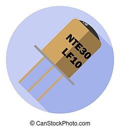 Vector image of a phototransistor