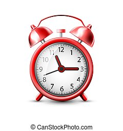 vector image of a red alarm clock
