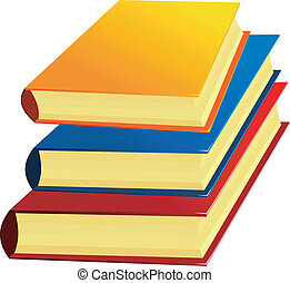 Vector image of a set of books