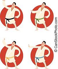 Set of karate