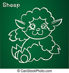 Vector image of a sheep