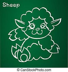 Vector image of a sheep