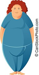 Plump woman - Vector image of a sport Plump woman