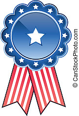 vector image of a stars and stripes medal - Digitally...