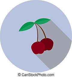 Vector image of a sweet cherry