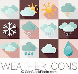 Weather flat icons