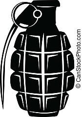 Vector image of an army manual grenade