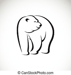 Vector image of an bear design on white background