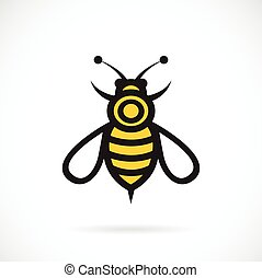 Vector image of an bee design on white background.