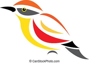Vector image of an bird