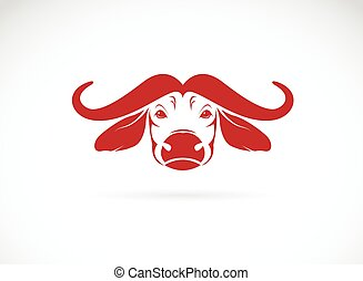 Vector image of an buffalo head on white background