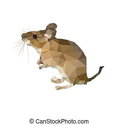 Vector image of an bull poligon on a white background
