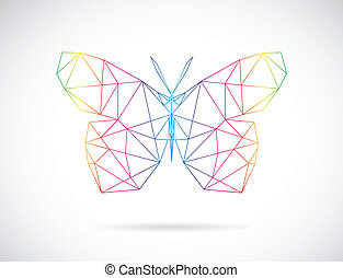 Vector image of an butterfly design