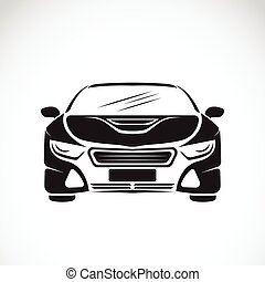 Vector image of an car design on white background, Vector car logo for your design.