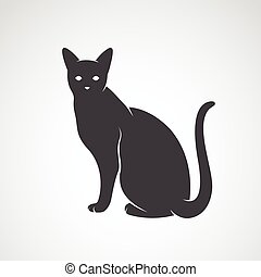Vector image of an cat on a white background. Silhouette