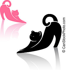 cat  - Vector image of an cat on white background
