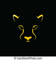 Vector image of an cheetah face