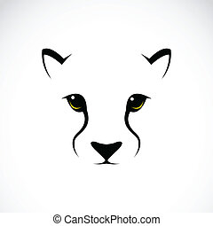 Vector image of an cheetah face on white background