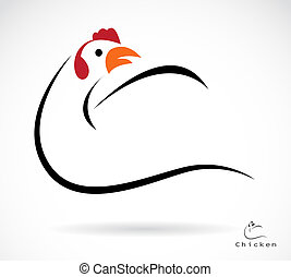 Vector image of an cock