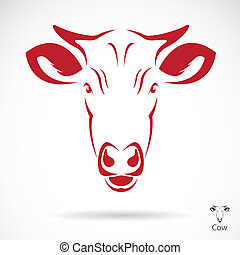 Vector image of an cow head