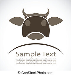Vector image of an cow