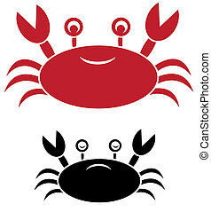 Vector image of an crab