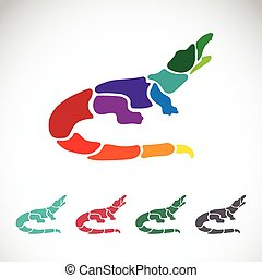Vector image of an crocodile design on white background