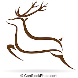 Vector image of an deer - Vector illustration of deer symbol...