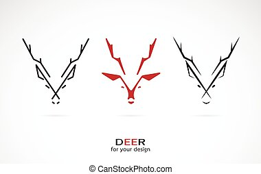 Vector image of an deer design on white background