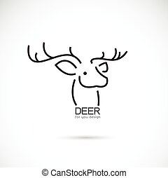 Vector image of an deer head design on a white background