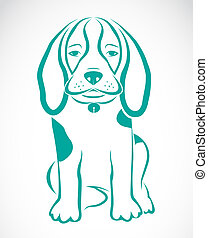 Vector image of an dog beagle