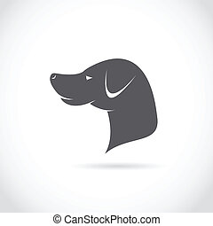 Vector image of an dog head
