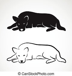 Vector image of an dog on white background