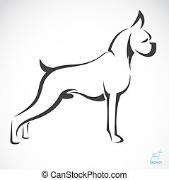 Vector image of an dog(boxer) on white background