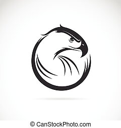 Vector image of an eagle design on white background