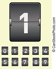 vector image of an electronic Board with the alphabet. Numbers set. .