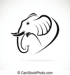 Vector image of an elephant design on a white background