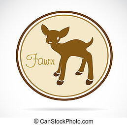 Vector image of an fawn on white background
