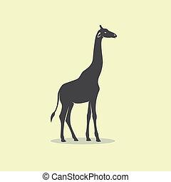 Vector image of an giraffe design.